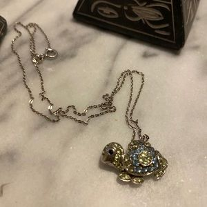 Kay jewelers turtle aquamarine necklace